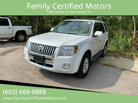2008 Mercury Mariner for sale at Family Certified Motors in Manchester NH