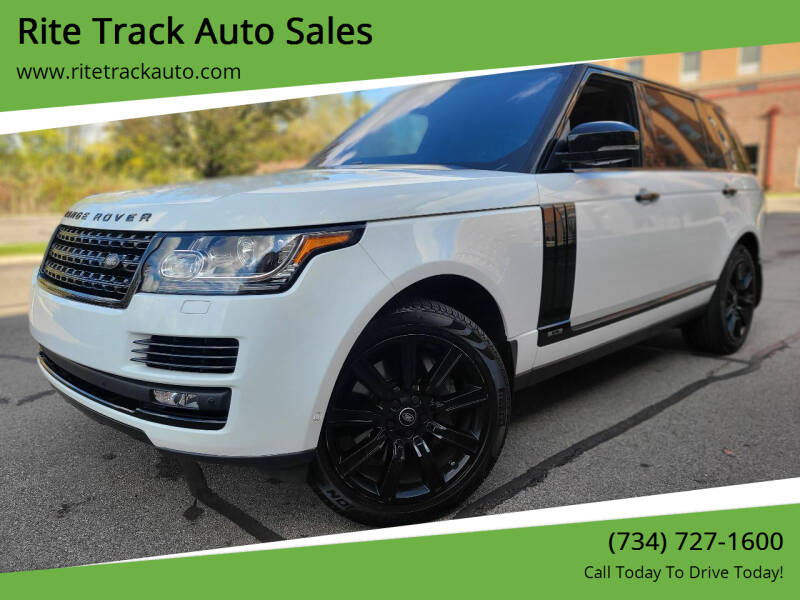 2017 Land Rover Range Rover for sale at Rite Track Auto Sales in Wayne MI
