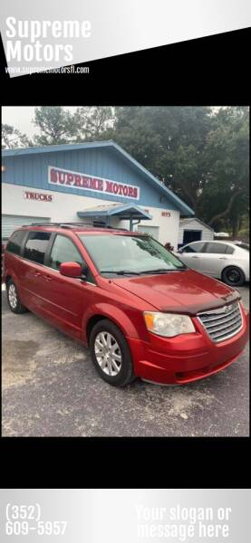 2008 Chrysler Town and Country for sale at Supreme Motors in Tavares FL