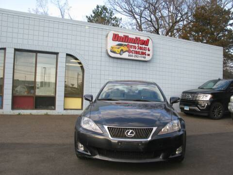 2010 Lexus IS 250 for sale at Unlimited Auto Sales & Detailing, LLC in Windsor Locks CT