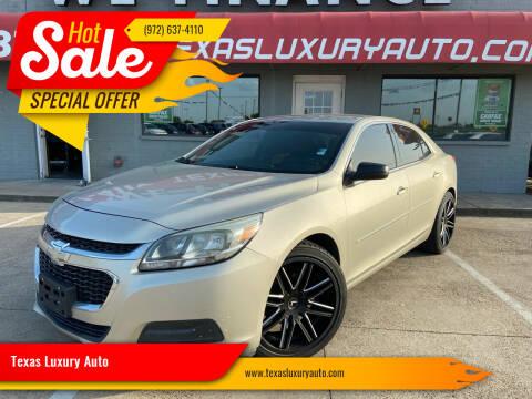 2015 Chevrolet Malibu for sale at Texas Luxury Auto in Cedar Hill TX