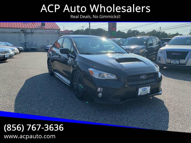 2015 Subaru WRX for sale at ACP Auto Wholesalers in Berlin NJ