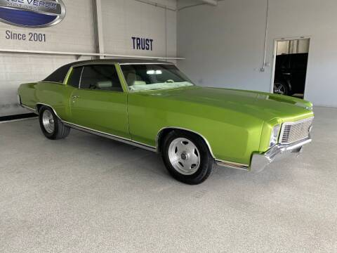 1971 Chevrolet Monte Carlo for sale at TANQUE VERDE MOTORS in Tucson AZ