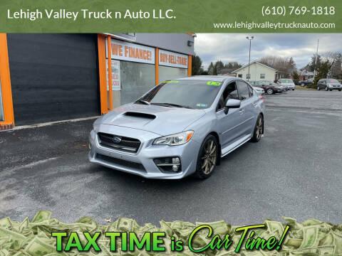2015 Subaru WRX for sale at Lehigh Valley Truck n Auto LLC. in Schnecksville PA