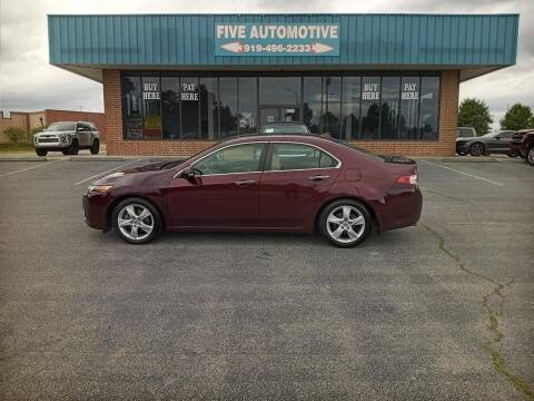 2010 Acura TSX for sale at Five Automotive in Louisburg NC