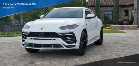2021 Lamborghini Urus for sale at K & O AUTO WHOLESALE INC in Jacksonville FL