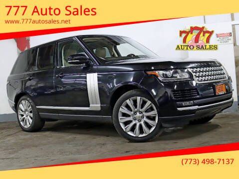 2014 Land Rover Range Rover for sale at 777 Auto Sales in Bedford Park IL