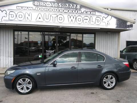 2010 BMW 5 Series for sale at Don Auto World in Houston TX