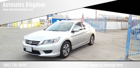 2015 Honda Accord for sale at Autosales Kingdom in Lancaster CA