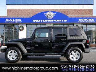 2016 Jeep Wrangler Unlimited for sale at Highline Group Motorsports in Lowell MA