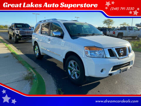 2011 Nissan Armada for sale at Great Lakes Auto Superstore in Waterford Township MI