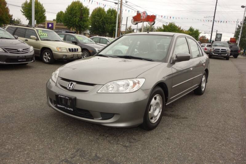 2005 Honda Civic for sale at Leavitt Auto Sales and Used Car City in Everett WA