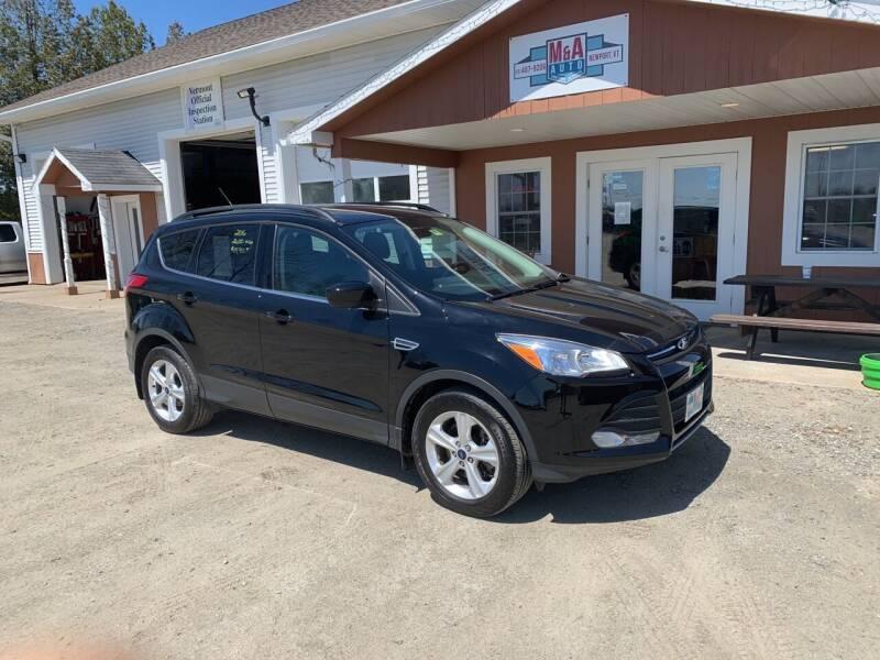 2016 Ford Escape for sale at M&A Auto in Newport VT