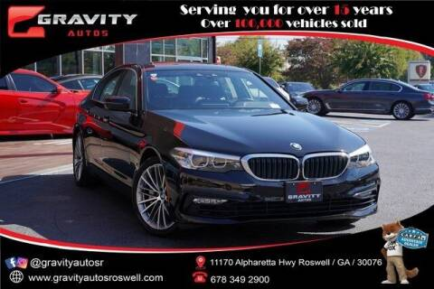 2018 BMW 5 Series for sale at Gravity Autos Roswell in Roswell GA