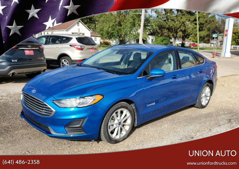 2019 Ford Fusion Hybrid for sale at Union Auto in Union IA