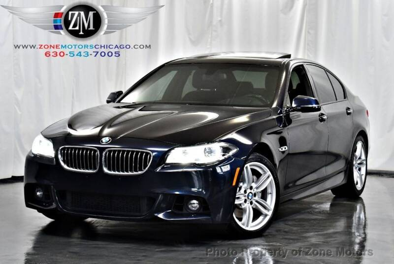 2015 BMW 5 Series for sale at ZONE MOTORS in Addison IL