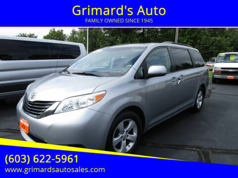 2012 Toyota Sienna for sale at Grimard's Auto in Hooksett NH