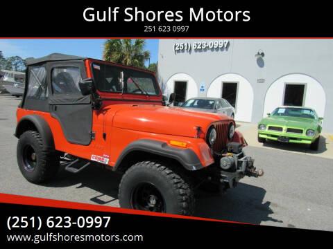 1976 Jeep CJ-5 for sale at Gulf Shores Motors in Gulf Shores AL