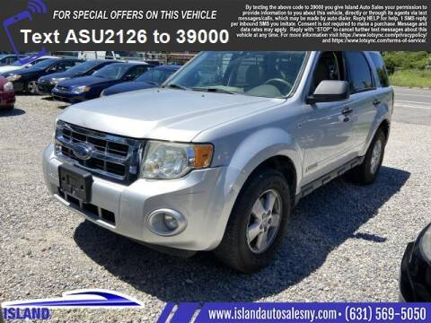 2008 Ford Escape for sale at Island Auto Sales in East Patchogue NY