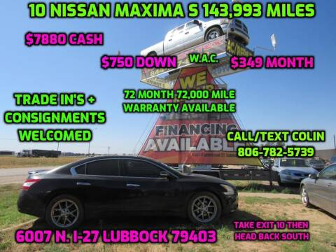 2010 Nissan Maxima for sale at West Texas Consignment in Lubbock TX