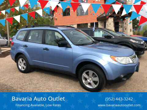 2012 Subaru Forester for sale at Bavaria Auto Outlet in Victoria MN