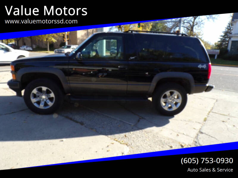 1999 Chevrolet Tahoe for sale at Value Motors in Watertown SD