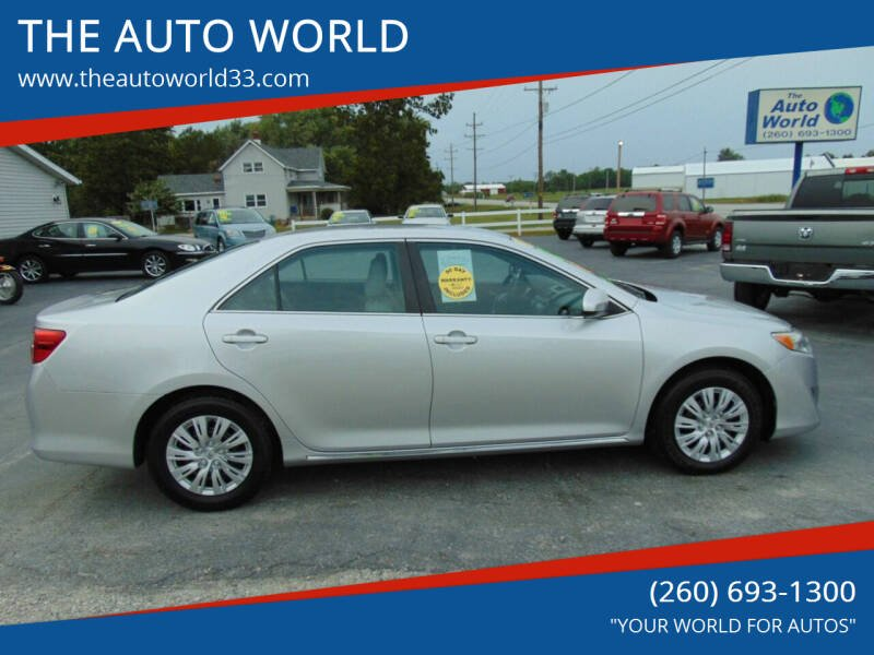 2012 Toyota Camry for sale at THE AUTO WORLD in Churubusco IN