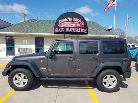 2017 Jeep Wrangler Unlimited for sale at DICK'S MOTOR CO INC in Grand Island NE