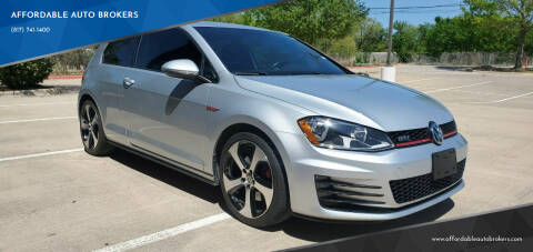 2015 Volkswagen Golf GTI for sale at AFFORDABLE AUTO BROKERS in Keller TX