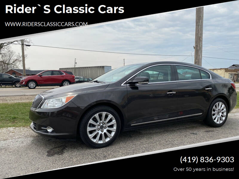2013 Buick LaCrosse for sale at Rider`s Classic Cars in Millbury OH