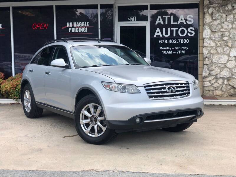 2008 Infiniti FX35 for sale at ATLAS AUTOS in Marietta GA