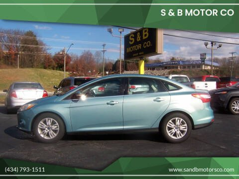 2012 Ford Focus for sale at S & B MOTOR CO in Danville VA