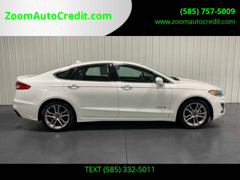 2019 Ford Fusion Hybrid for sale at ZoomAutoCredit.com in Elba NY
