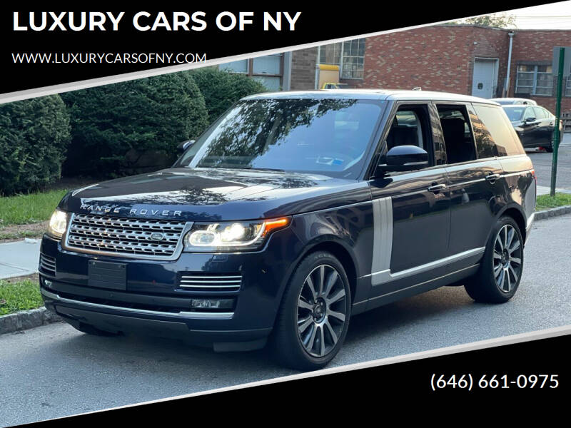 2017 Land Rover Range Rover for sale at LUXURY CARS OF NY in Queens NY