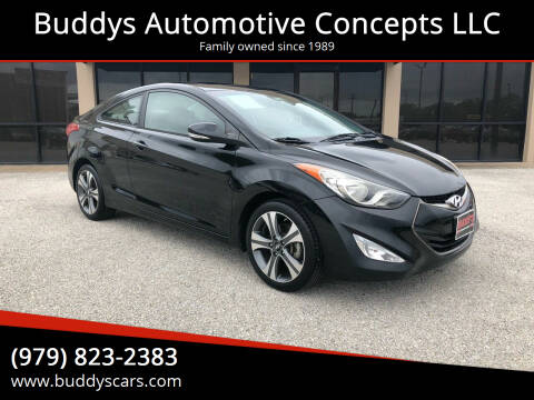 2013 Hyundai Elantra Coupe for sale at Buddys Automotive Concepts LLC in Bryan TX