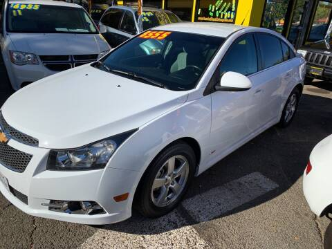 2013 Chevrolet Cruze for sale at Once and Done Motorsports in Chico CA
