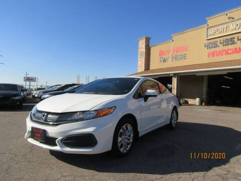 2015 Honda Civic for sale at Import Motors in Bethany OK