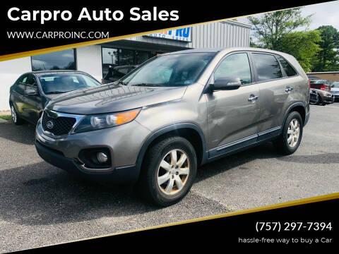 2013 Kia Sorento for sale at Carpro Auto Sales in Chesapeake VA