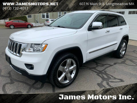 2013 Jeep Grand Cherokee for sale at James Motors Inc. in East Longmeadow MA