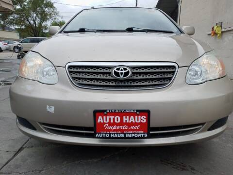 2005 Toyota Corolla for sale at Auto Haus Imports in Grand Prairie TX