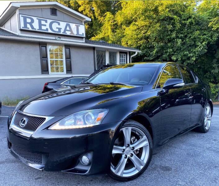 2011 Lexus IS 250 for sale at Regal Auto Sales in Marietta GA