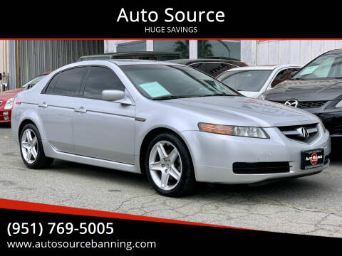 2006 Acura TL for sale at Auto Source in Banning CA