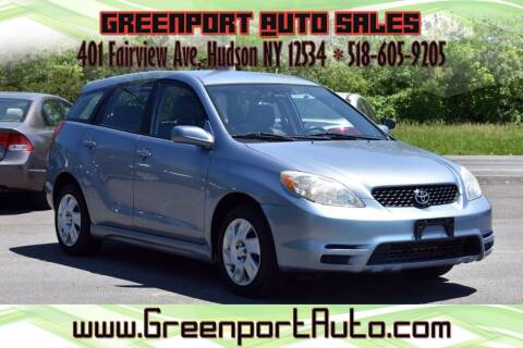 2004 Toyota Matrix for sale at GREENPORT AUTO in Hudson NY