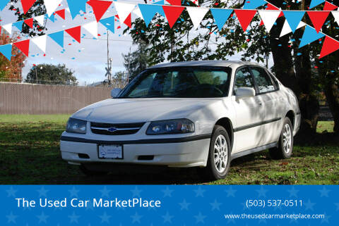 2001 Chevrolet Impala for sale at The Used Car MarketPlace in Newberg OR