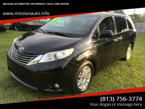2011 Toyota Sienna for sale at MISSION AUTOMOTIVE ENTERPRISES in Plant City FL