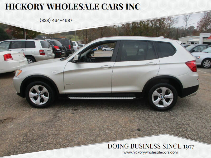 2011 BMW X3 for sale at Hickory Wholesale Cars Inc in Newton NC