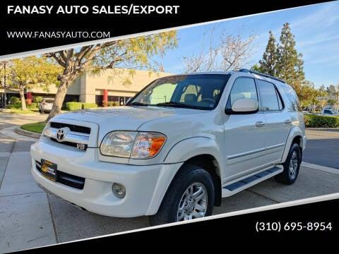 2006 Toyota Sequoia for sale at FANASY AUTO SALES/EXPORT in Yorba Linda CA