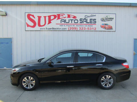 2014 Honda Accord for sale at SUPER AUTO SALES STOCKTON in Stockton CA