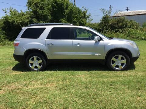 2007 GMC Acadia for sale at JENTSCH MOTORS in Hearne TX