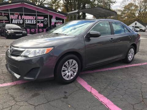 2013 Toyota Camry for sale at Fast and Friendly Auto Sales LLC in Decatur GA